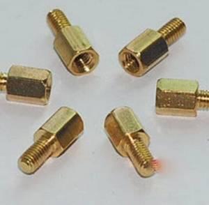 Pilastri a vite esagonale filettati in ottone da 10 pezzi 6MM + 6 M3
