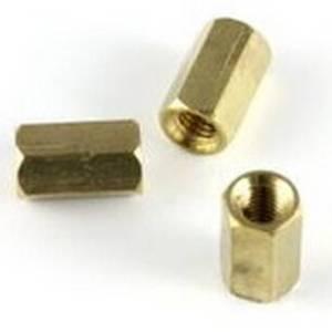Cilindro in ottone esagonale 6 Pezzi 6MM - dorato