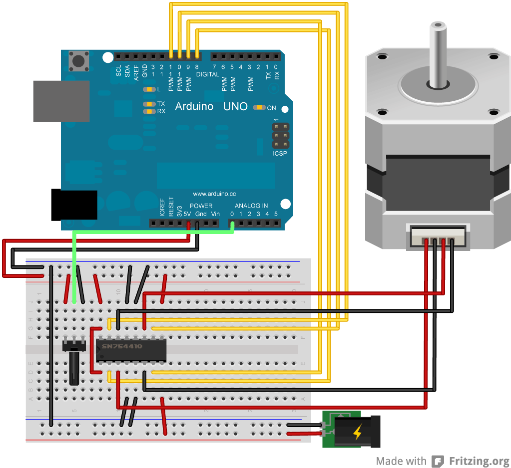 Arduino 6 Wire Stepper Motor Control | Newmotorspot.co