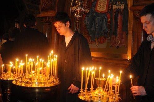 Фоторепортаж из Свято-Троицкого Ионинского монастыря о праздновании Светлого праздника Пасхи 156