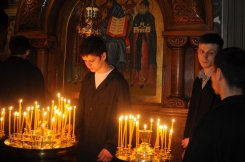 Фоторепортаж из Свято-Троицкого Ионинского монастыря о праздновании Светлого праздника Пасхи 158