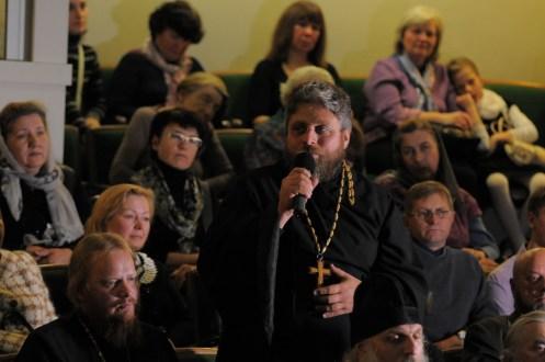 Вечер памяти о. Лонгина в Доме учителя 55