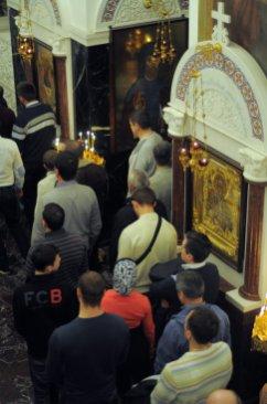 Несколько фотографий с Рождественской службы из Свято-Троицкого Китаевского мужского монастыря. 5