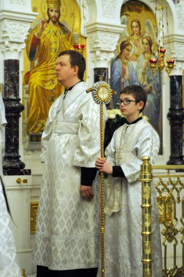 Несколько фотографий с Рождественской службы из Свято-Троицкого Китаевского мужского монастыря. 47