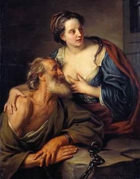 Caritas Romana («милосердие по-римски») Сюжет и картины великих 7
