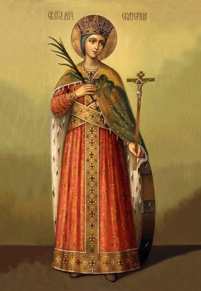 Завтра праздник св. Екатерины. Житие и страдание святой великомученицы Екатерины Александрийской. Иконы большого размера 22