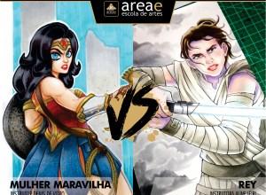 Mulher Maravilha (Liga da Justiça) vs. Rey (Star Wars)