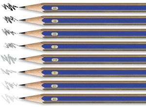 Lápis de grafite com gradação HB