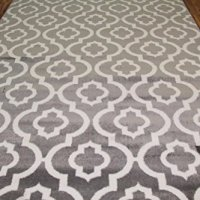 3028 Gray Moroccan Trellis 7'10x10'6 Area Rug Carpet Large New