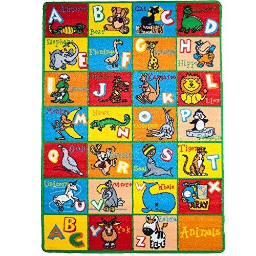 kids rug abc animals area rug 5u0027