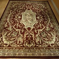 Beautiful Classic Burgundy Oriental Rug 8x11 Rugs Red 8x11 Rug Green Beige Cream 8x10 Rug Living Room Carpet Indoor Rugs (Large 8x11)
