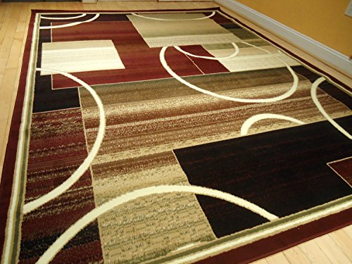 Contemporary Rug Multi Colored Area Rugs 8x11 Rug Red 5x8 Rug Living Room  Carpet 8x10