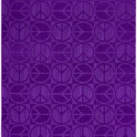 Garland Rug Large Peace Area Rug, 5-Feet by 7-Feet, Purple