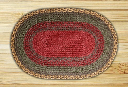 Earth Rugs 06 111 Oval Rug, 4 X 6u0027, Burgundy/Green
