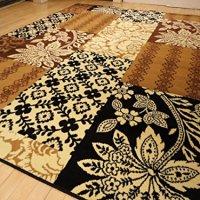 Large 8x11 Rug Modern Beige Black Cream Brown Area Rugs Contemporary Carpet 5x8 Rug 2x8 Narrow Hallway Runner 5x7 Brown Rug (Large 8'x11' Rug)