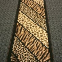 Animal Print Rug Runner 2 Ft. X 7 Ft. Black Skinz 75