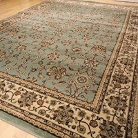 Premium Soft Persian Rugs Traditional Rug for Living Room Greenish Blue Cream Burgundy Rugs 5x7 Area Rugs Clearance