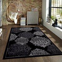 776 Black Gray Grey 5'2x7'2 Area Rugs Carpet