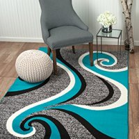 Summit #37 New Grey Torquoise Area Rug Modern Abstract Rug Many Sizes Available 2x3 2x7 4x6 5x7 8x10 (22 INCH X 35 INCH SCATTER DOOR MAT SIZE)