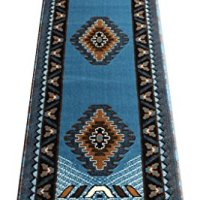 Native American Runner Area Rug Design Kingdom D 143 Blue Brown (2 Feet X 7 Feet) Runner