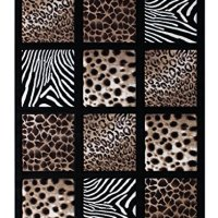 Modern Area Rug Animal Prints 8 Ft. X 10 Ft. 6 In. Design # S 251 Black