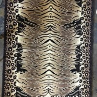 Tiger & Leopard Animal Skin Print Area Rug Print Design 130 (5 feet 2 inches X 7 feet 3 inches)