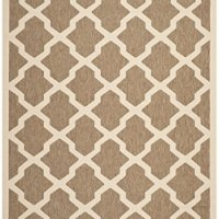 """Safavieh Courtyard Collection CY6903-242 Brown and Bone Indoor/ Outdoor Area Rug (4' x 5'7"""")"""