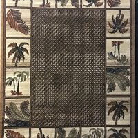 Palm Tree Tropical 500,000 Point Area Rug Beige Design 1 (5ft2in.X7ft1in.)