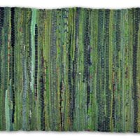 DII Contemporary Reversible One of A Kind Area Rug, Rag Rug For Bedroom, Living Room, Kitchen, 4 x 6' - Olive Green