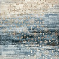 Unique Loom 3130833 Modern Abstract Vintage 8 Feet (8' x) Mirage Contemporary Area Rug, 8 x 11, Dark Blue