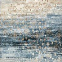 Unique Loom 3130833 Modern Abstract Vintage 8 Feet (8' x) Mirage Contemporary Area Rug, 8 x 11, Dark Blue