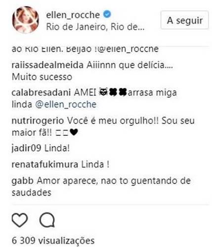 Elogio do namorado de Ellen Rocche (Reprodução/Instagram)