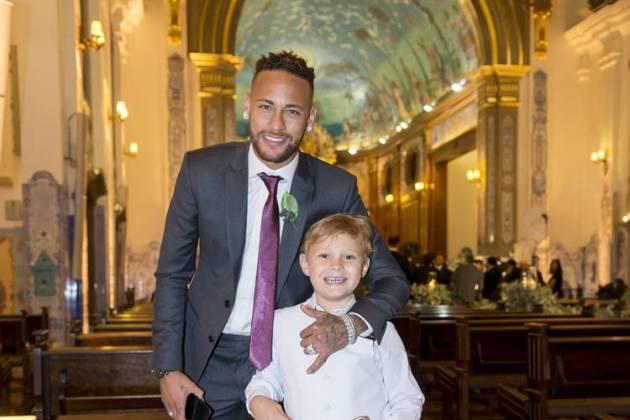 Neymar e Davi Lucca (Paulo Santos)