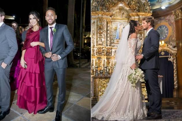 Neymar no casamento (Paulo Santos)