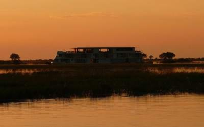Taking to the waters of the Chobe River