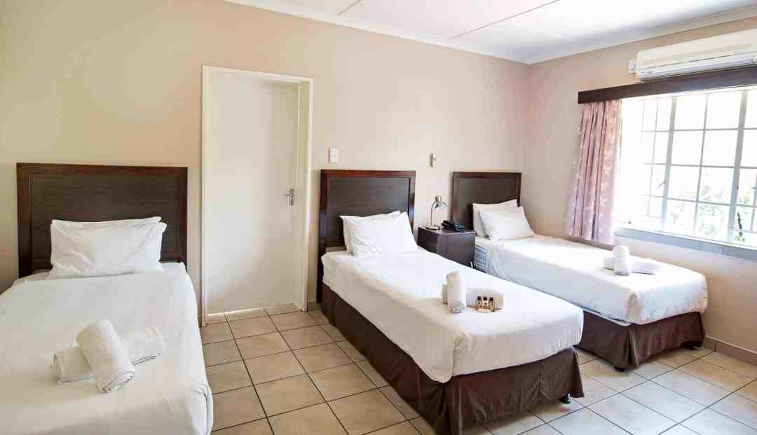 Small Chalet | Triple | Self-Catering Accommodation In Windhoek |  Arebbusch Travel Lodge