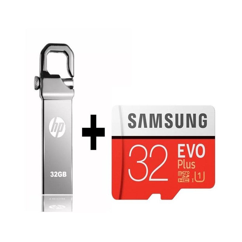 32GB HP Usb +Samsung micro Memory Card Pack with Songs
