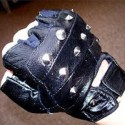 Black Gloves With Steel Studs