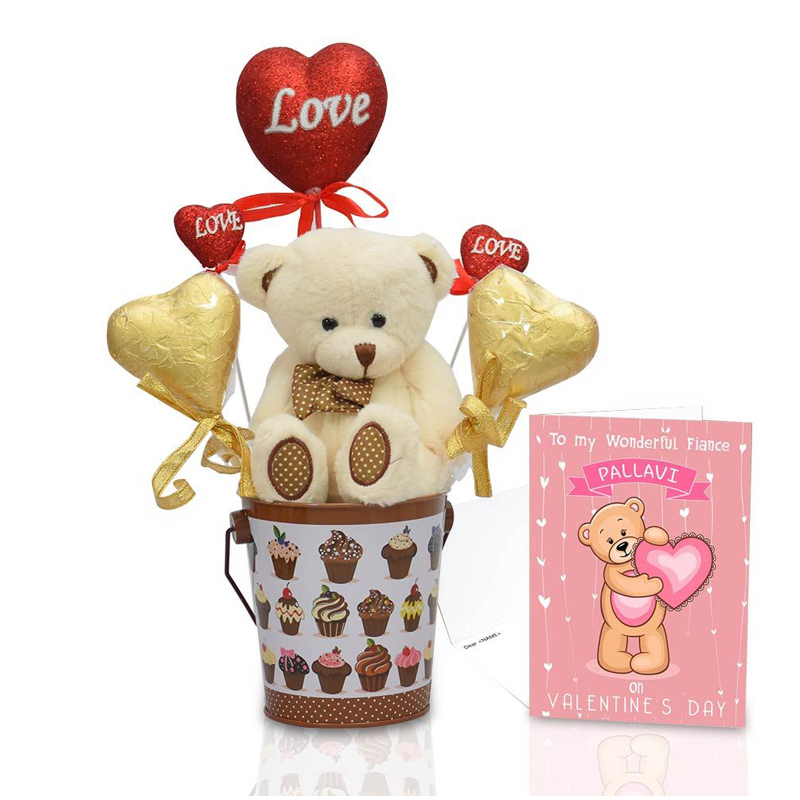 Chocolate Teddy In Bucket