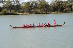 The Dragon Boat competitors