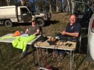 Ivan VK5HS and Peter VK5FLEX at Hogwash Bend