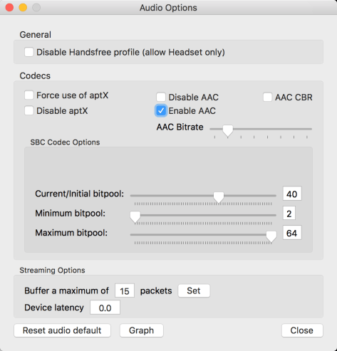 Enabling AAC and AptX over Bluetooth on MacOS – A Reilly Blog