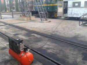 El compresor dando aire al Zaragoza