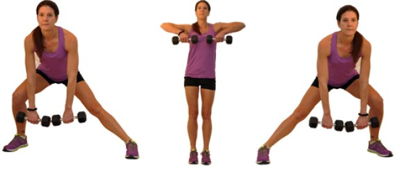 Image result for Side Lunge + Kettlebell Upright Row