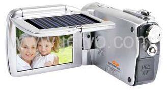 Camera video cu panou solar