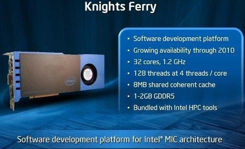 Coprocesorul Intel Knights Ferry