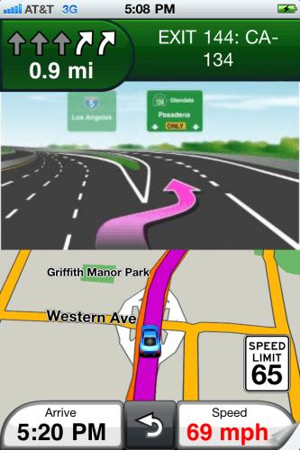 Garmin StreetPilot pentru iPhone