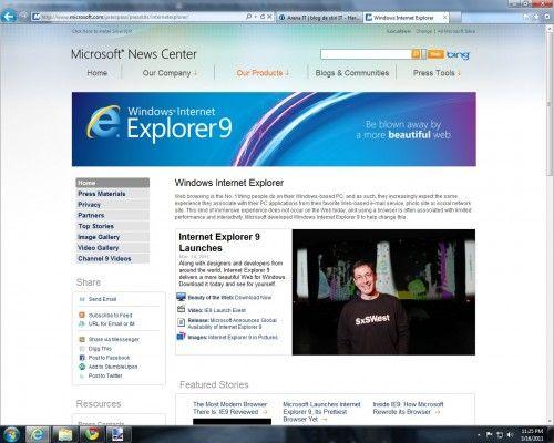 Microsoft Internet Explorer 9 lansat