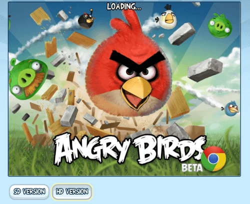 Angry Birds disponibil in Chrome Store