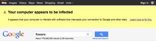 Google te anunta ca esti infectat